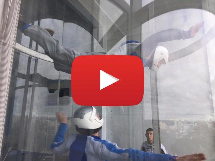 Видео полёта в аэротрубе